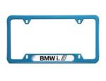 """BMW i"" Nameplate Frame - Blue"
