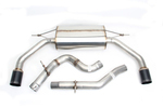Dinan Free Flow Exhaust with Black Tips for Audi A3 2.0L (8V)
