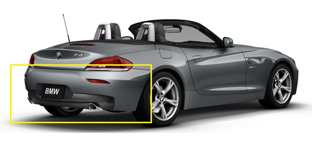 E89 Z4 M Sport Rear Aerodynamic Kit - BMW (PKE89Z4MSPORTR)