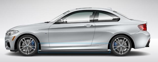 F22/23 2 Series M Sport Aerodynamic Rocker Panel Retrofit Kit - BMW (PKF22MSPORTSIDES)