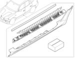 E83 X3 Aluminum Running Boards - BMW (51-71-0-305-705)