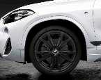 "F39 X2 M Performance 20"" Matte Black Style 717M Wheel/Tire Set"