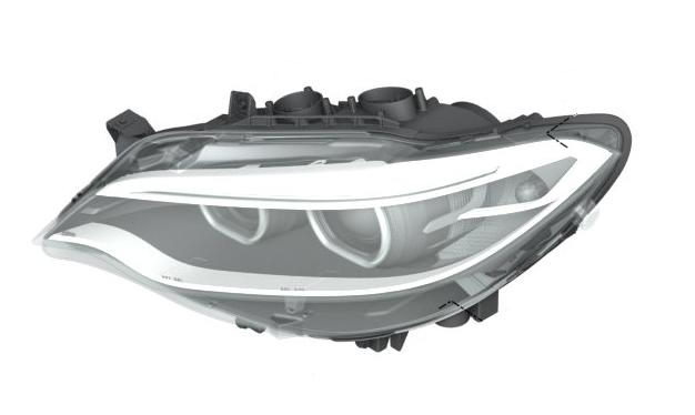 Bi-Xenon Headlamp Assembly - Left