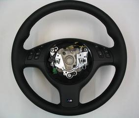 E46 M3 Black Stitched Leather Steering Wheel - BMW (32-34-2-282-022)