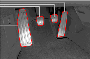 Aluminum Pedals and Footrest Retrofit Kit - Manual Transmission - Porsche (991-044-700-04)