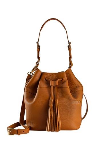 Jenn Leather Bucket Bag - Audi (ACM-579-4)
