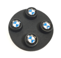 Roundel Logo Valve Stem Caps - Black Body - BMW (36-12-2-456-426)