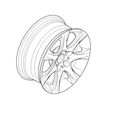Genuine Bmw 36 11 6 764 623 Alloy Wheel Style 185