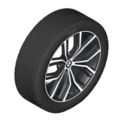 "G01 X3 G02 X4 M Performance 21"" Style 701M Complete Wheel/Tire Set - BMW (36-11-2-449-760)"