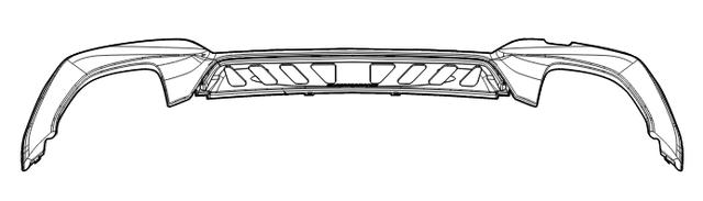G20 3 Series M Performance Gloss Black Rear Bumper Trim - M340i/iX - BMW (51-19-2-455-859)
