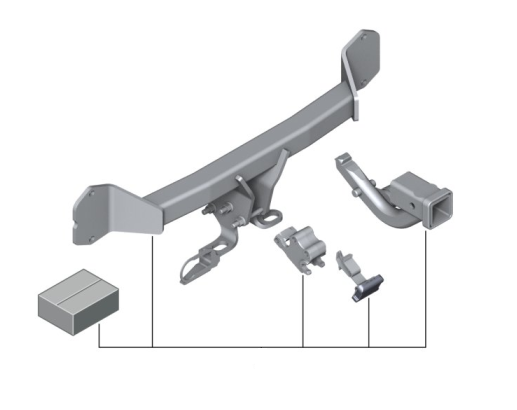 F25 X3 Trailer Hitch Kit - vehicles up to 4/2014 - BMW (82-11-2-287-407)