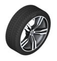 "G32 6 Series GT, G11/12 7 Series 20"" Style 648M Orbit Grey Winter Wheel/Tire - 8.5x20"