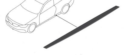F3x 4 Series M Performance Matte Black Rocker Panel Cover - Right - BMW (51-19-2-361-680)