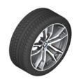 """F85 X5M F86 X6M 20"""" Style 611M Double Spoke Winter Wheel/Tire, Orbit Gray - 10x20"""