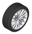 "G30 5 Series 19"" Style 633 Silver Winter Wheel/Tire - 8x19"