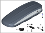 Roof Box 520 - Black with Silver Accent & Roundel - BMW (82-73-2-406-459)