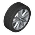 "F15 X5 18"" Style 446 Silver Winter Wheel/Tire - 8.5x18"