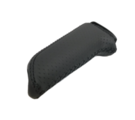 Perforated Black Leather Handbrake Grip