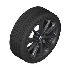 "G05 X5 M Performance 20"" Style 748M Black Winter Wheel/Tire - 9x20 - BMW (36-11-2-462-595)"