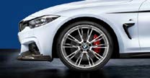 "F3x 3 & 4 Series M Performance 20"" Style 624M Polished Wheel/Tire Set - vehicles up to 3/2014"