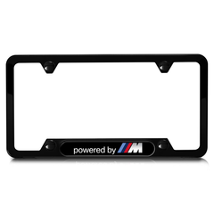 Powered By M Stainless Steel License Plate - Black - BMW (82-11-2-348-414)
