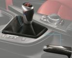 F87 M2 M Performance Shift Knob With Alcantara Boot + Carbon Fiber E-Brake Handle