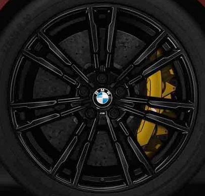 """M Double Spoke Style 706M 20"""" Rim Set - Black - BMW (36118073979KIT)"""