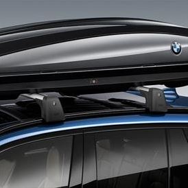 Roof Box 320, Lockable - Black with Silver Accent & Roundel - BMW (82-73-2-420-634)