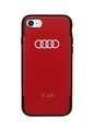 TUMI Red Leather Case for iPhone 7/Plus