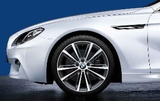 "F10, F12/13/06 M Performance V-Spoke 20"" Style 464M Wheel/Tire Set - vehicles 9/2010 and on"