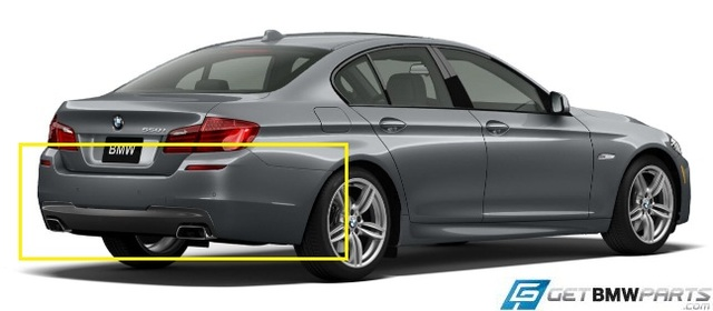 F10 5 Series M Sport Rear Aerodynamic Retrofit Kit - BMW (PKF10MSPORTREAR)