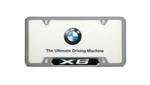 X6 License Plate Frame - Chrome
