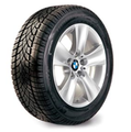"F10 5 Series, F12/13/06 6 Series 17"" Style 327 Silver Winter Wheel/Tire - 8x17"