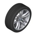 "F8x M3/M4 18"" Style 640M Silver Winter Wheel/Tire - 8.5x18"