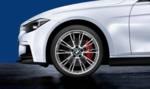 """F3x 3 & 4 Series M Performance 20"""" Style 624M Polished Wheel/Tire Set - vehicles from 3/2014 and on - BMW (36-11-2-287-897)"""
