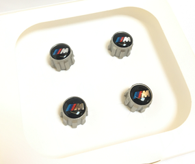 M Valve Stem Cap Set - Aluminum - BMW (36-12-2-447-402)