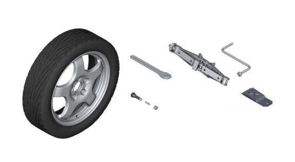 F07 5 Series GT, F01/02 7 Series Emergency Wheel/Spare Tire Set - BMW (PKF01SPARETIRE)