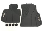G02 X4 All Weather Rubber Floor Mats Set - Front