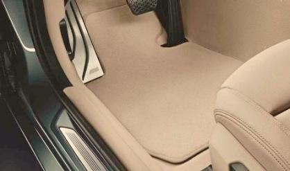 F23 2 Series Carpet/Velour Floor Mats - Oyster - BMW (51-47-7-352-703)