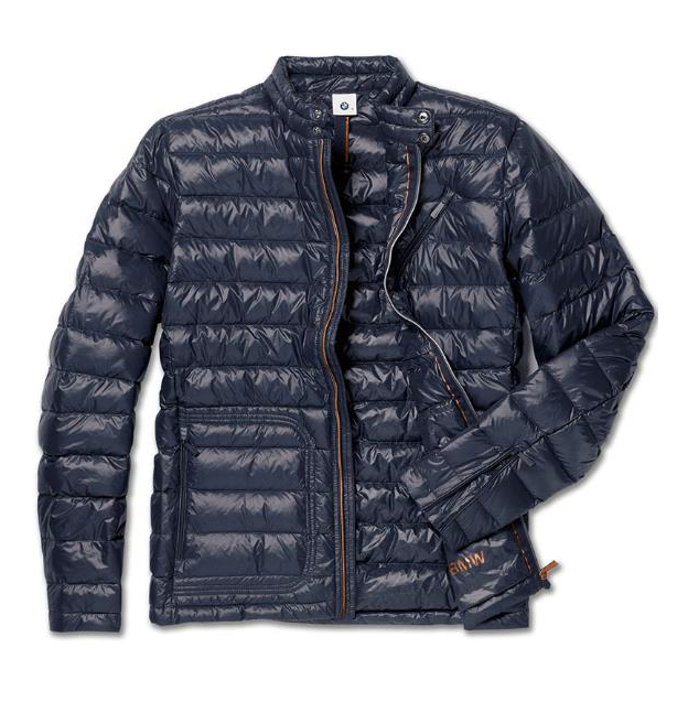 Men's Soft Down BMW Jacket - Dark Blue