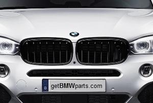 F15 X5, F16 X6 M Performance Black Kidney Grille - Right - BMW (51-71-2-334-710)