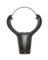 M Performance Alcantara & Carbon Fiber Steering Wheel Trim Cover - Gloss Carbon Finish