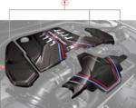 F90 M5 M Performance Carbon Fiber Engine Cover Carbon Extension Set