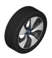 "I12/15 i8 & i8s 20"" Style 444 Black Winter Wheel/Tire, Right - 7.5x20 ET:40"