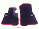 F22/23 2 Series, F87 M2 Carpeted Floor Mats, Front - Sport Line (Black/Red) - BMW (51-47-2-339-459)