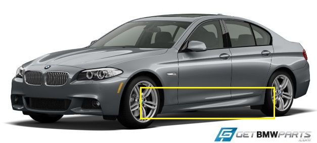 F10 5 Series M Sport Aerodynamic Rocker Panel Retrofit Kit - BMW (PKF10MSPORTSIDES)