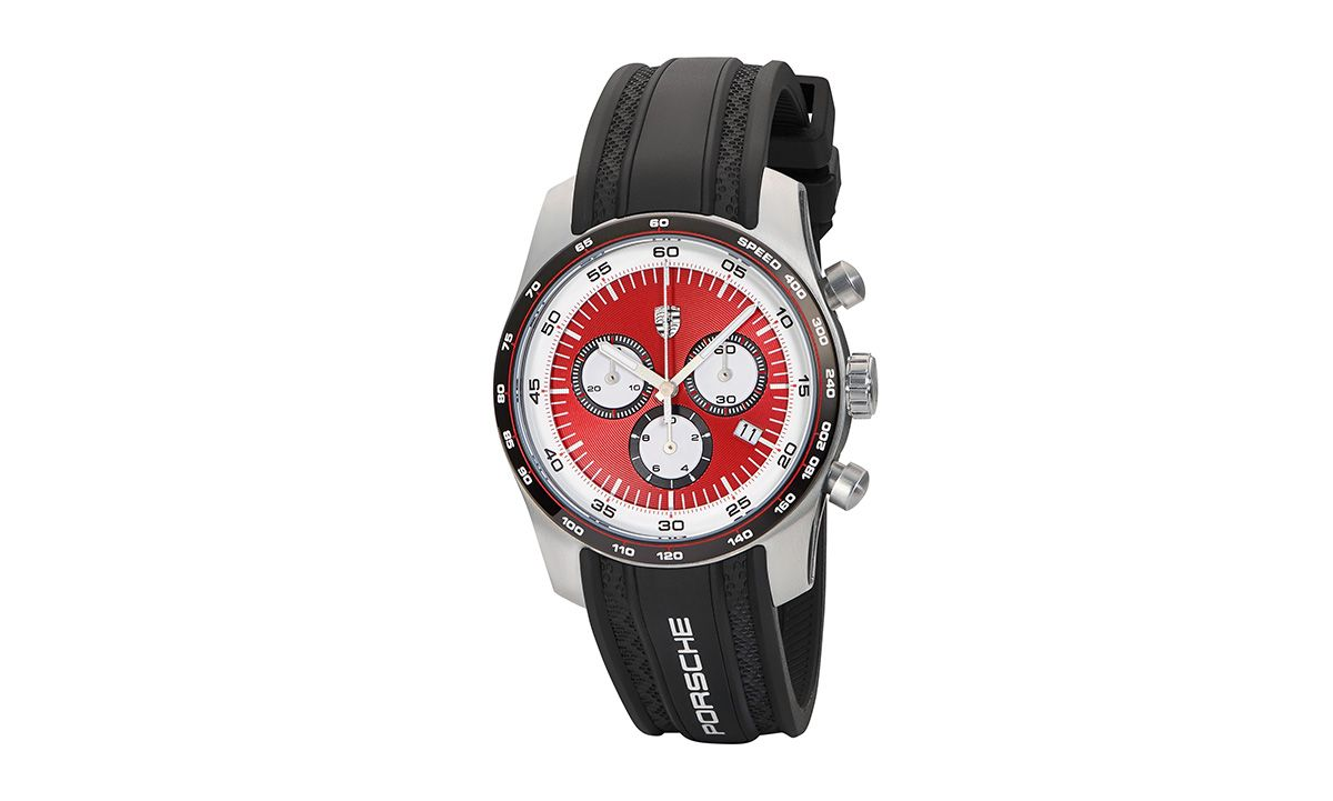 Sport Chronograph - Silver/Black/Red