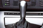Leather Selector Lever with Chrome Inlay