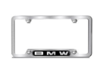 Nameplate License Plate Frame - Brushed Stainless Steel