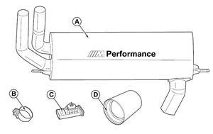 F3x 3 & 4 Series B46 Engine M Performance Exhaust - BMW (18-30-2-411-186)